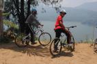 Cycling around tamblingan lake Bali