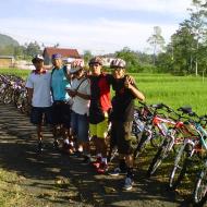 Cycling tour in sidemen village Bali
