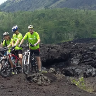 Cycling tour to Bali Volcano