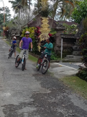 cycling tour to local village in Bali